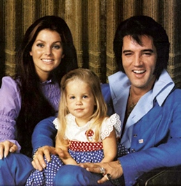 Elvis Presley And Priscilla Presley And Lisa Marie