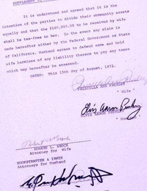 Welcome to the elvis information networkr the best news about the elvis priscilla divorce document in good conspiracy fashion they were interested in how elvis signed his name here is the document thecheapjerseys Gallery