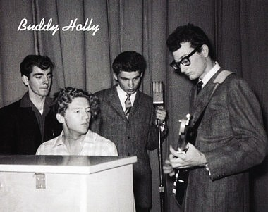 Photographer Jimmy Velvet, Jerry Lee Lewis, Don Everly, Buddy Holly